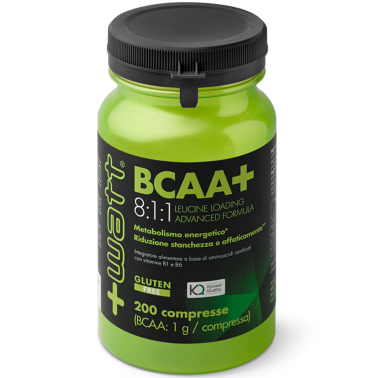 Aminocidi Ramificati +WATT BCAA+ 8:1:1 Leucine Loading Advanced Formula 200 cpr.