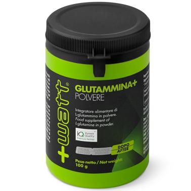 +Watt Glutammina+ 100 gr Pura Glutamina in Polvere Qualita' Kyowa Anticatabolico