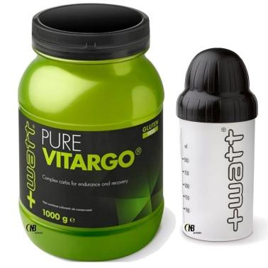 +Watt Pure Vitargo 1000 gr Amidi rapidi per recupero muscolare + SHAKER in vendita su Nutribay.it