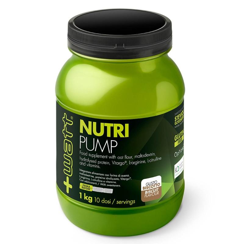 +Watt Nutri Pump 1 kg proteine idrolizzate Vitargo L-arginina L-citrullina e vitamine in vendita su Nutribay.it