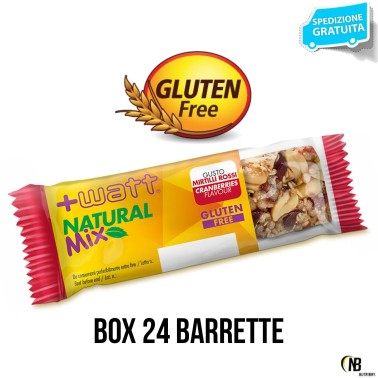 +Watt Natural Mix 24 Barrette energetiche a Base di frutta Secca gusto Datteri - BARRETTE - in vendita su Nutribay.it