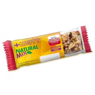 +Watt Natural Mix 24 Barrette energetiche a Base di frutta Secca gusto Datteri BARRETTE in vendita su Nutribay.it