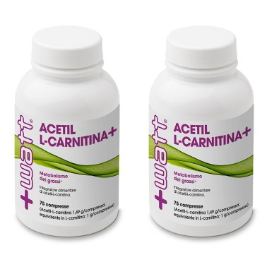 +WATT ACETIL CARNITINA ALC 150 cpr. DA 1,4 gr. PER METABOLISMO GRASSI - CARNITINA in vendita su Nutribay.it