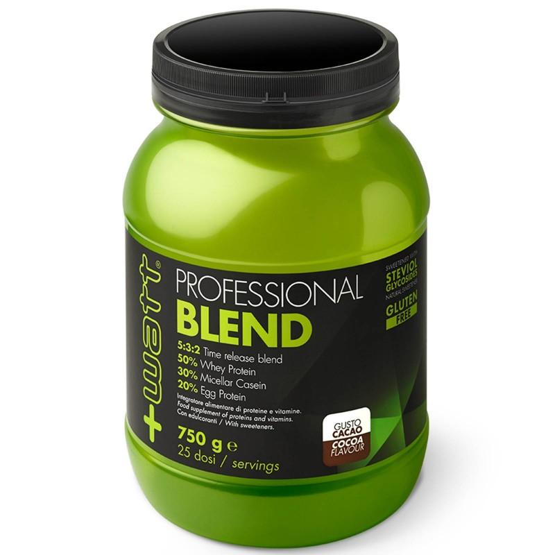 +Watt Professional Blend 750 gr. Mix Proteico con Proteine Whey Caseine e Uovo in vendita su Nutribay.it