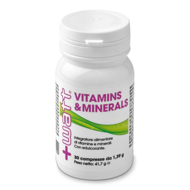+Watt Vitamins e Minenals 30 cpr. Multivitaminico Alto Dosaggio Completo in vendita su Nutribay.it