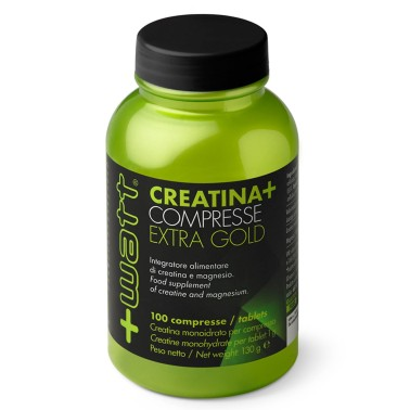 +WATT CREATINA EXTRA GOLD 100 cpr. PURA CREATINA EXTRA GOLD CREAPURE + MAGNESIO in vendita su Nutribay.it