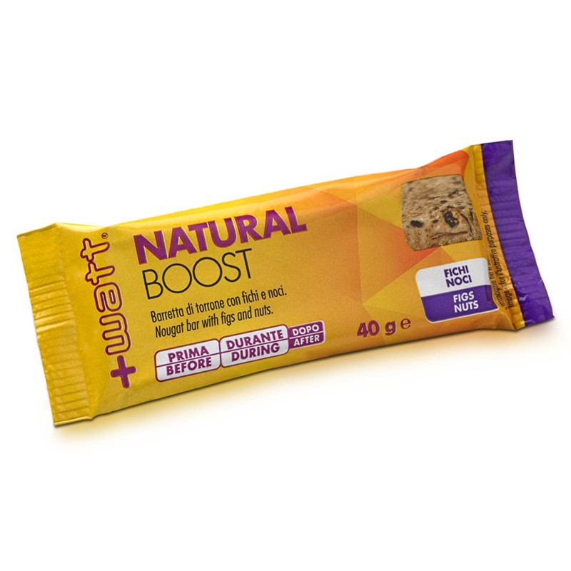 +Watt Natural Boost 24 Barrette energetiche con frutta secca omega 3 vitamine in vendita su Nutribay.it