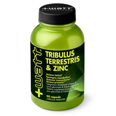 +Watt Tribulus Terrestris & Zinco 90 cps tonico uomo vigore stimolo testosterone in vendita su Nutribay.it