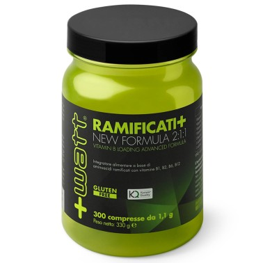 +Watt Ramificati+ Aminoacidi Advanced Formula 300cpr bcaa Kyowa + Vitamine B in vendita su Nutribay.it