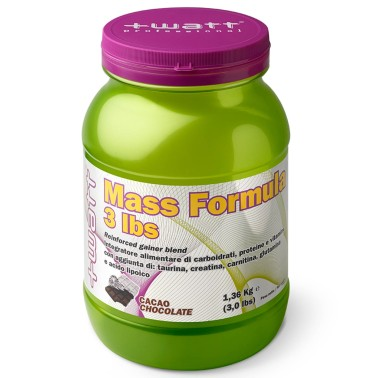 +Watt MASS FORMULA 1360gr. gainer di Proteine +Creatina+Taurina+Glutammina+BCAA in vendita su Nutribay.it