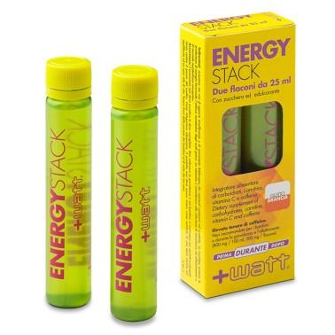 +WATT ENERGY STACK ENERGIA IMMEDIATA 32 FIALE con carnitina+vitamine+caffeina in vendita su Nutribay.it