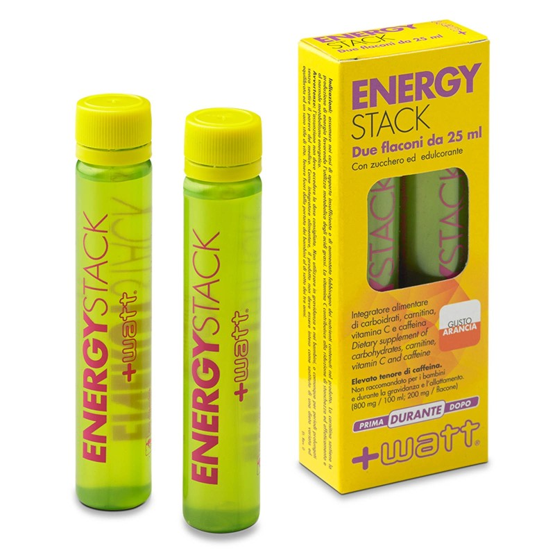 +WATT ENERGY STACK ENERGIA IMMEDIATA 32 FIALE con carnitina+vitamine+caffeina in vendita su Nutribay.it