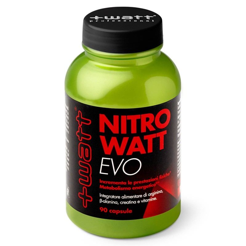 +Watt NITROWATT EVO ARGININA CREATINA VITAMINE BETA ALANINA E CITRULLINA in vendita su Nutribay.it