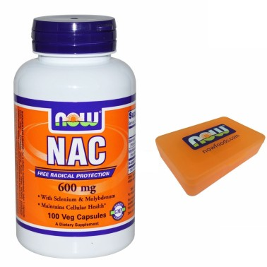 NOW FOODS NAC 100 cps N-Acetil Cisteina 600mg Selenio Molibdeno ANTIOSSIDANTE in vendita su Nutribay.it