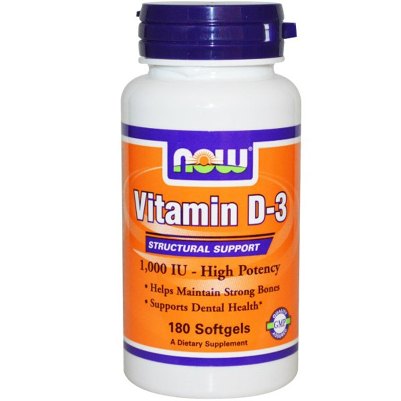 NOW FOODS VIT D3- 1000 180 Perle Integratore Vitamina D3 Ossa, Denti e Capelli in vendita su Nutribay.it