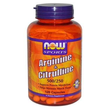 NOW FOODS Arginine e Citrulline 120 cps Aminoacidi Arginina Citrullina tonico GH - ARGININA in vendita su Nutribay.it
