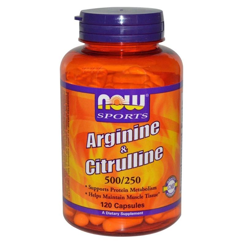 NOW FOODS Arginine e Citrulline 120 cps Aminoacidi Arginina Citrullina tonico GH in vendita su Nutribay.it