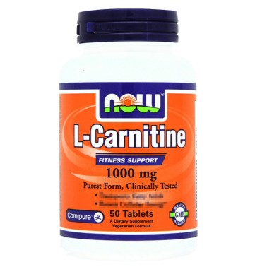 NOW FOODS Carnitine Tartrate 1000 mg 50 tabs Carnitina Tartrato da 1 gr. in vendita su Nutribay.it