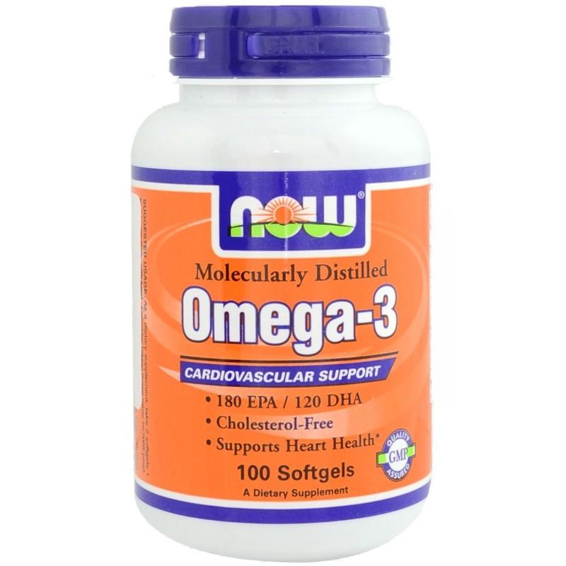 NOW FOODS Omega 3 100 Perle Olio DI Pesce EPA DHA no COLESTEROLO salute cuore in vendita su Nutribay.it