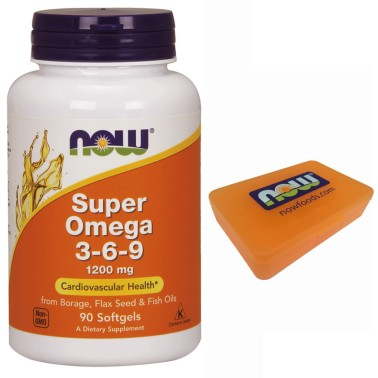 NOW FOODS Super OMEGA 3 6 9 180 perle 1200 mg Anti Colesterolo per Salute Cuore OMEGA 3 in vendita su Nutribay.it