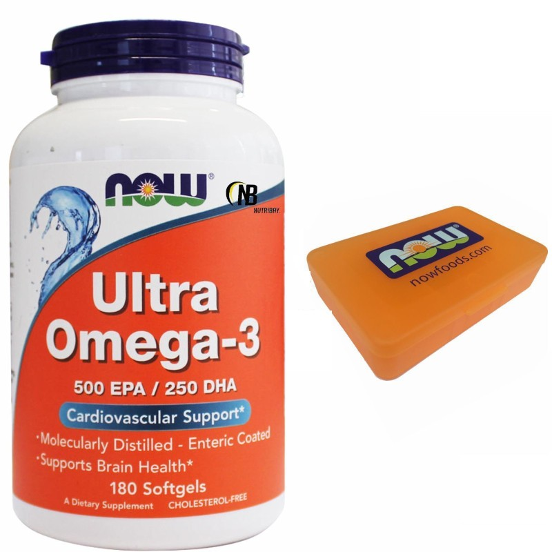 NOW FOODS Ultra Omega 3 180 perle Olio pesce DHA EPA - No colesterolo - Salute Cuore in vendita su Nutribay.it