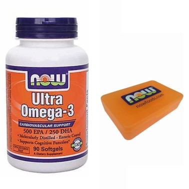 NOW FOODS Ultra Omega 3 90 perle Olio Pesce DHA EPA NO Colesterolo Salute Cuore - OMEGA 3 in vendita su Nutribay.it