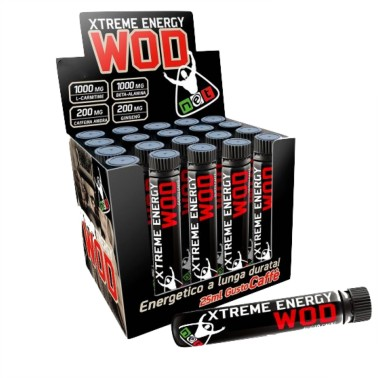 Net Extreme Wod Energy 10 fiale con Carnitina Caffeina Beta Alanina e Ginseng in vendita su Nutribay.it