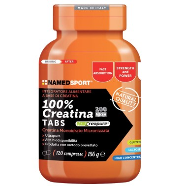 NAMED SPORT 100% Creatine Tabs 120 Pura Creatina Creapure in compresse - CREATINA - in vendita su Nutribay.it