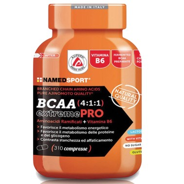 Named Sport BCAA Extreme PRO 4:1:1 310cpr Aminoacidi Ramificati 411 con Vitamine in vendita su Nutribay.it