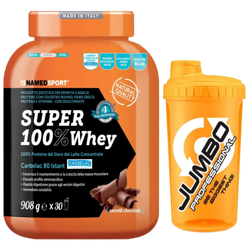 Named Super 100% Whey 908 gr. Proteine Del Siero del Latte Carbelac + SHAKER in vendita su Nutribay.it