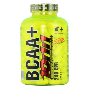 4+ Nutrition BCAA 10:1:1 240 cpr. Aminoacidi Ramificati con Leucina 10 1 1 - AMINOACIDI 3.1.2 - 4.1.1 - 10.1.1 - 12.1.1 in ve...