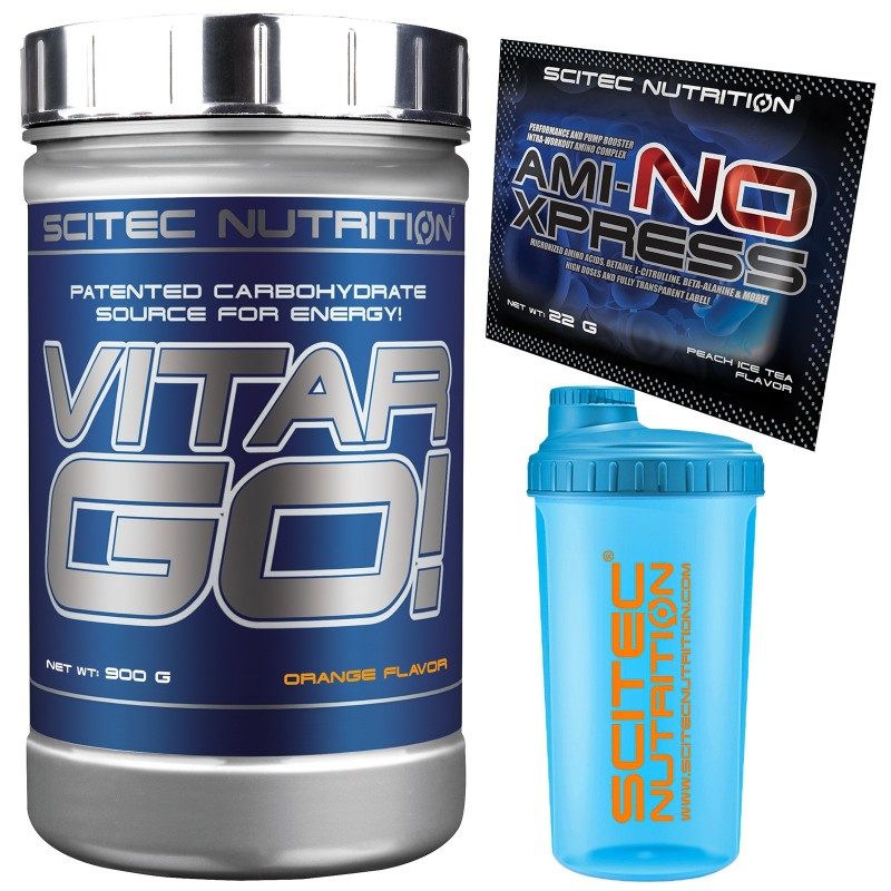 SCITEC NUTRITION Vitargo Puro 900 g. Carboidrati Energetico + Shaker Aminoacidi in vendita su Nutribay.it