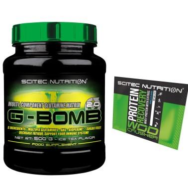 Scitec Nutrition G Bomb 500g. Glutammina  Acido Folico Bioperina Akg Alanina