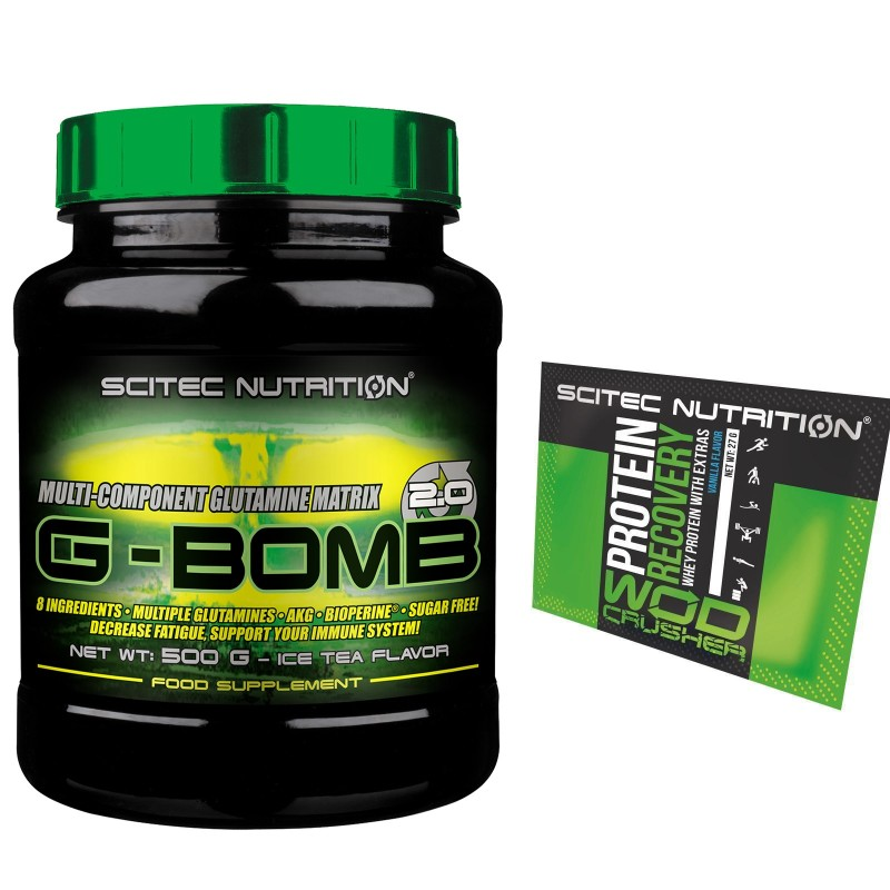 SCITEC NUTRITION G Bomb 500g. Glutammina Acido Folico Bioperina Akg Alanina in vendita su Nutribay.it