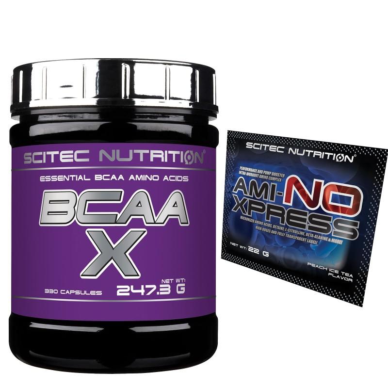 SCITEC NUTRITION Bcaa-X 330 cps Bcaa X Aminoacidi Ramificati Essenziali +OMAGGIO in vendita su Nutribay.it