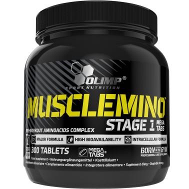 OLIMP Musclemino Stage 1 300 Mega Tabs Aminoacidi Pre Workout in vendita su Nutribay.it