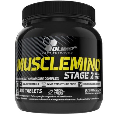 OLIMP Musclemino Stage 2 300 Mega Tabs Aminoacidi Post Workout - PRE ALLENAMENTO in vendita su Nutribay.it