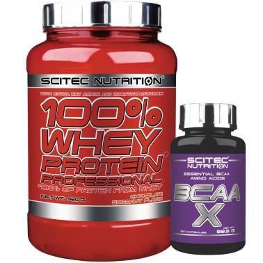 SCITEC 100% Whey Protein Professional 920 + 120 Bcaa X Aminoacidi Ramificati