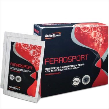 ETHIC SPORT Ferrosport 20 Buste da 3 gr ferro acido folico e vitamina C in vendita su Nutribay.it