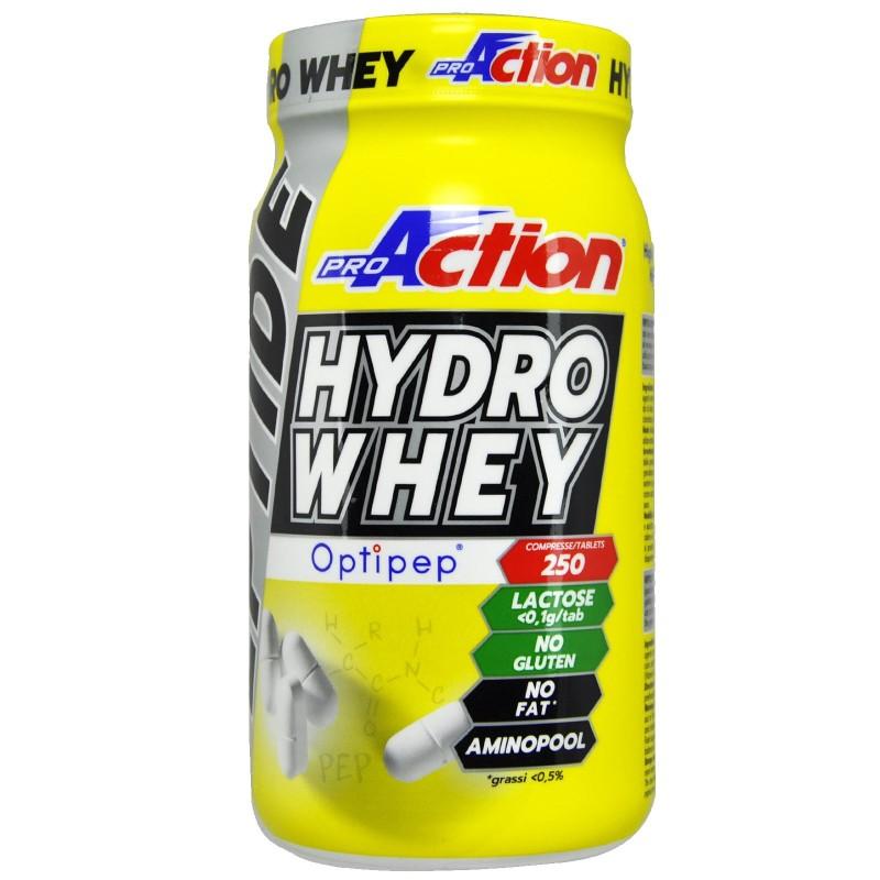 PROACTION Peptide Hydro Whey 250 cpr Aminoacidi Pool da Proteine Idrolizzate - AMINOACIDI COMPLETI in vendita su Nutribay.it