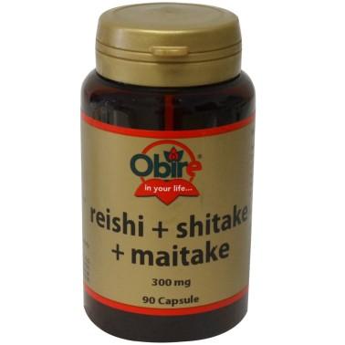 OBIRE REISHI + SHITAKE + MAITAKE 90 caps Funghi curativi elisir di salute - RIMEDI NATURALI in vendita su Nutribay.it