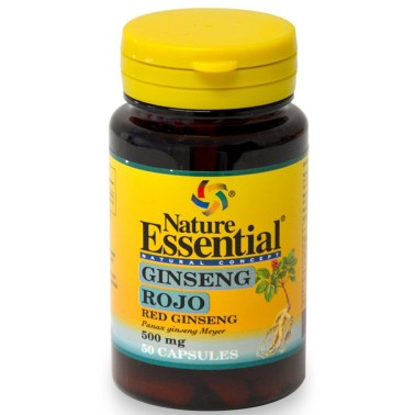 NATURE ESSENTIAL GINSENG ROSSO 50 caps Stimolante Tonico Energetico - RIMEDI NATURALI in vendita su Nutribay.it