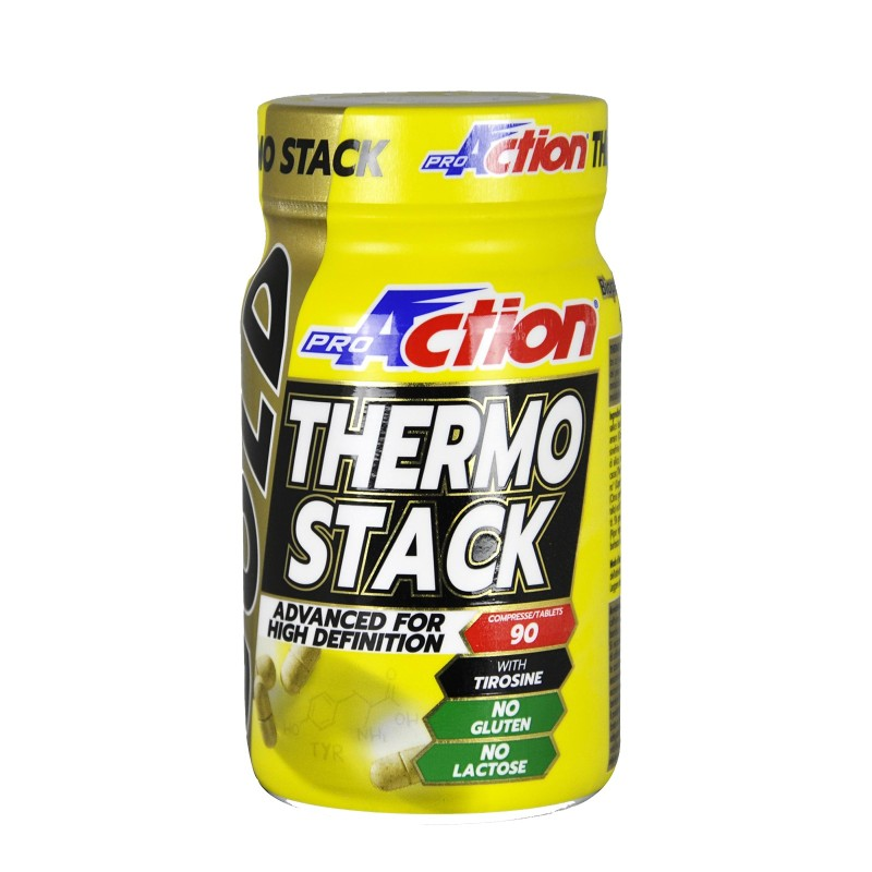 Proaction Thermo Stack Gold 90 cpr. Termogenico Bruciagrassi con Tirosina Fucus Salice Bianco in vendita su Nutribay.it