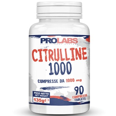 PROLABS Citrulline Malate 1000 - Citrullina in 90 compresse da 1 grammo in vendita su Nutribay.it
