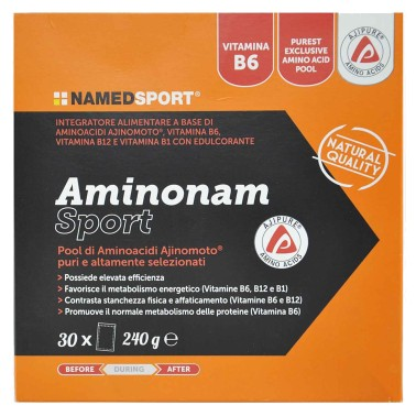 NAMED SPORT AminoNam Sport 30 buste da 8 gr Aminoacidi Essenziali Ajinomoto in vendita su Nutribay.it
