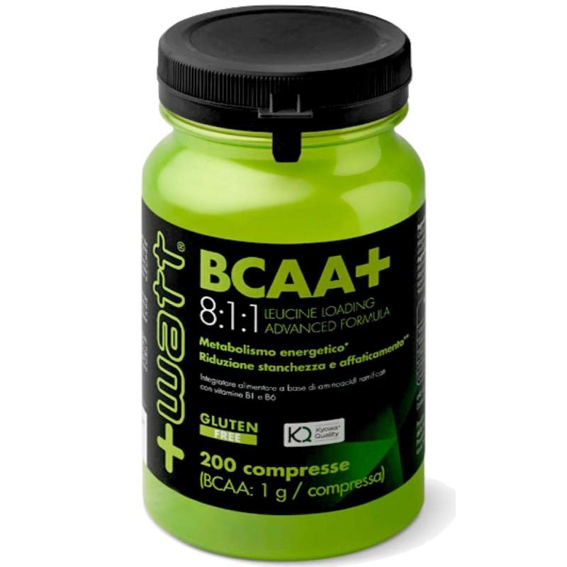 +WATT AMINOACIDI RAMIFICATI 811 BCAA+ 8:1:1 KYOWA 200cpr + Leucina e Vitamine b in vendita su Nutribay.it