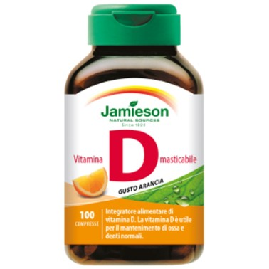 JAMIESON Vitamina D3 Masticabile - 100 cpr gusto Arancia - VITAMINE in vendita su Nutribay.it