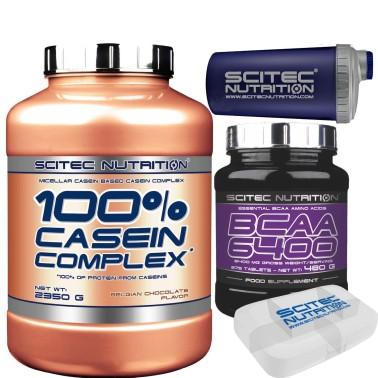 SCITEC 100% CASEIN COMPLEX 2350g PROTEINE CASEINE + 375 AMINOACIDI bcaa 6400 in vendita su Nutribay.it