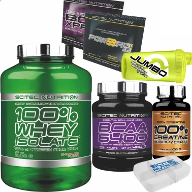 SCITEC 100% Whey Isolate 2000gr 2kg Proteine +375 AMINOACIDI BCAA 6400+ CREATINA - PROTEINE in vendita su Nutribay.it