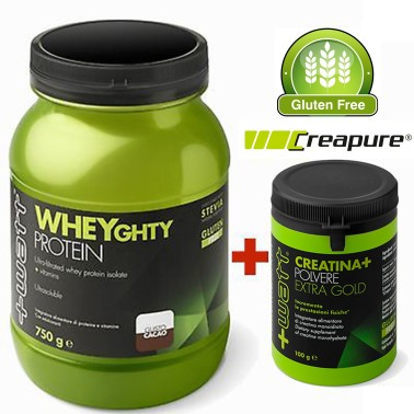 +WATT Wheyghty Proteine Del Siero Del Latte Isolate 750gr + 100gr Creatina Extra - PROTEINE in vendita su Nutribay.it